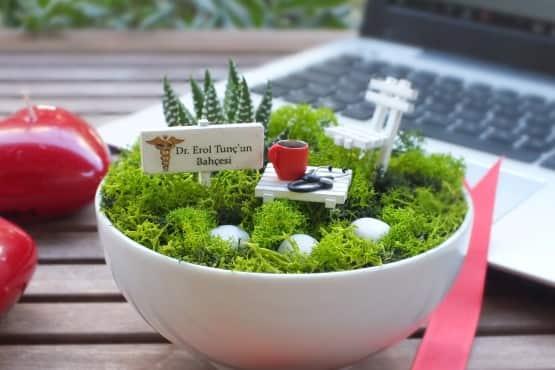 Minyatur Bahce - Tip bayrami - kahve (1)