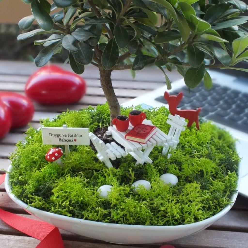 M Serisi Minyatür Bahçe Paspasın Bahçeleri